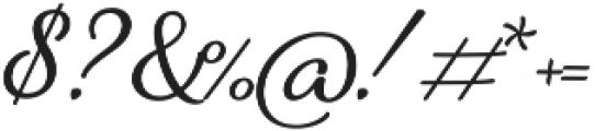 Alfons Brush otf (400) Font OTHER CHARS