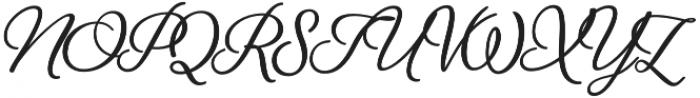 Alfons Brush otf (400) Font UPPERCASE