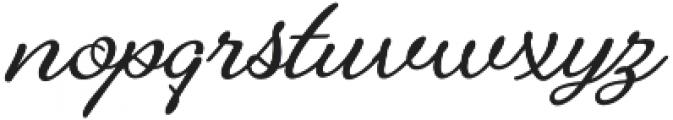 Alfons Brush otf (400) Font LOWERCASE