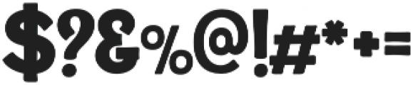 Alfons Display Black otf (900) Font OTHER CHARS