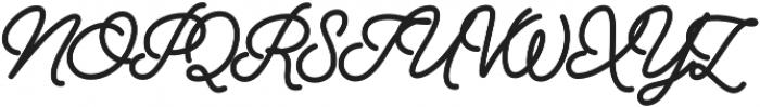 Alfons Script Black otf (900) Font UPPERCASE