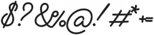 Alfons Script Bold otf (700) Font OTHER CHARS