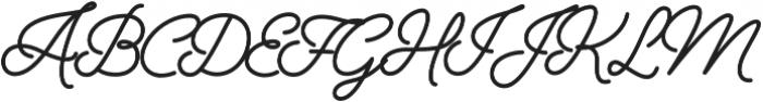 Alfons Script Bold otf (700) Font UPPERCASE