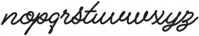 Alfons Script Bold otf (700) Font LOWERCASE