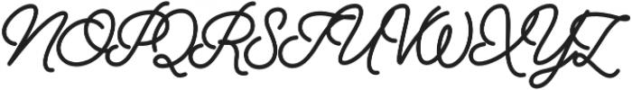 Alfons Script ExtraBold otf (700) Font UPPERCASE