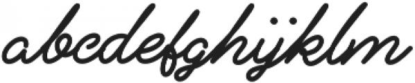 Alfons Script ExtraBold otf (700) Font LOWERCASE
