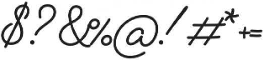 Alfons Script Medium otf (500) Font OTHER CHARS