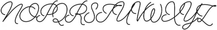 Alfons Script otf (400) Font UPPERCASE