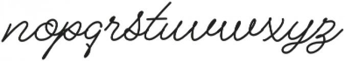 Alfons Script otf (400) Font LOWERCASE