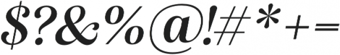 Alga Semibold Italic otf (600) Font OTHER CHARS
