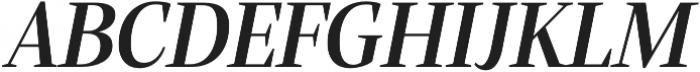 Alga Semibold Italic otf (600) Font UPPERCASE