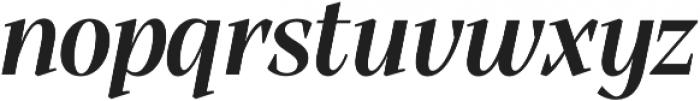 Alga Semibold Italic otf (600) Font LOWERCASE