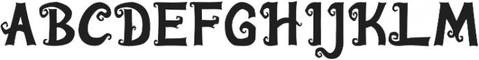 Algae Regular otf (400) Font UPPERCASE