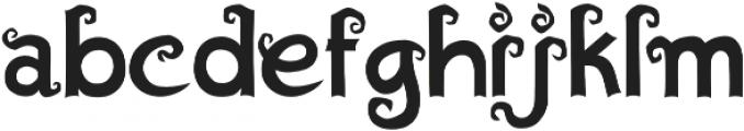 Algae Regular otf (400) Font LOWERCASE