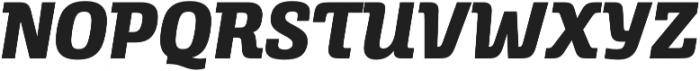 Alianza Italic 800 otf (800) Font UPPERCASE