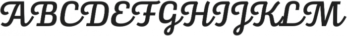 Alianza Script 500 otf (500) Font UPPERCASE