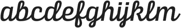 Alianza Script 500 otf (500) Font LOWERCASE