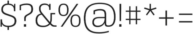Alianza Slab 200 otf (200) Font OTHER CHARS
