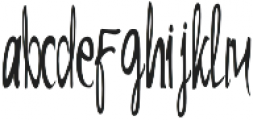 Alibaba Regular otf (400) Font LOWERCASE