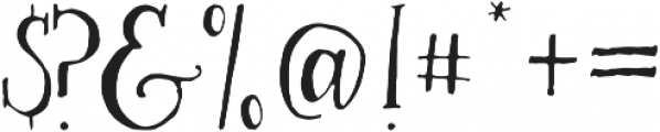 Alice Light otf (300) Font OTHER CHARS