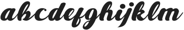 Alire script otf (400) Font LOWERCASE