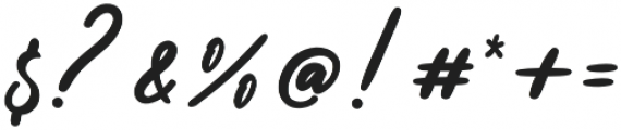 Alisha Regular otf (400) Font OTHER CHARS