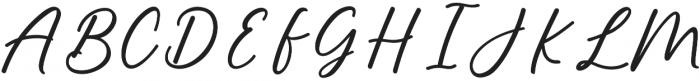 Alisha Regular otf (400) Font UPPERCASE