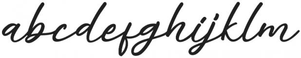 Alisha Regular otf (400) Font LOWERCASE