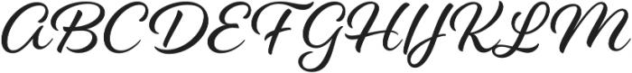 Alisha otf (400) Font UPPERCASE