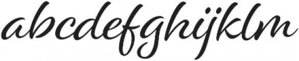 Alisha otf (400) Font LOWERCASE