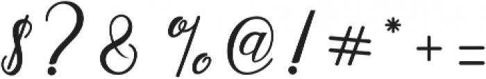 Alista Script otf (400) Font OTHER CHARS