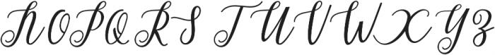 Alista Script otf (400) Font UPPERCASE