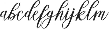 Alista Script otf (400) Font LOWERCASE