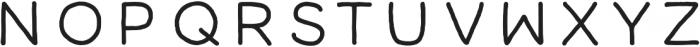 All Modern Hand by K Montes ttf (400) Font UPPERCASE