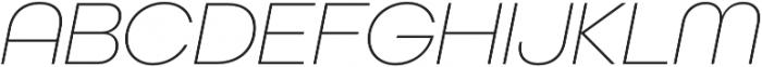 All Round Gothic XLig Oblique otf (400) Font UPPERCASE