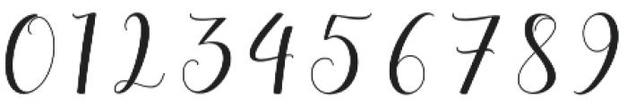 Allefia Script Regular otf (400) Font OTHER CHARS