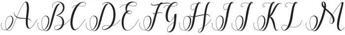 Allefia Script Regular otf (400) Font UPPERCASE