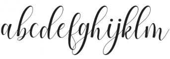 Allefia Script Regular otf (400) Font LOWERCASE