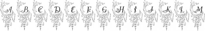 AllerleiZierat Capitals ttf (400) Font UPPERCASE