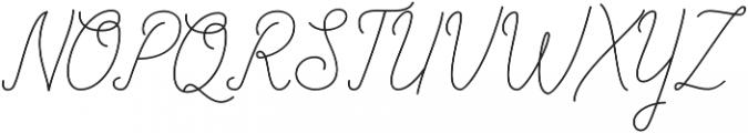 Allexandrea otf (400) Font UPPERCASE