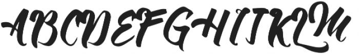 Allic Regular otf (400) Font UPPERCASE
