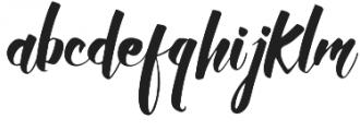 Allic Regular otf (400) Font LOWERCASE