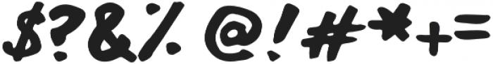 Alligator Man otf (400) Font OTHER CHARS