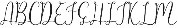 Alligature Script Regular otf (400) Font UPPERCASE