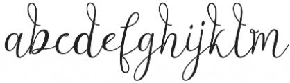 Alligature Script Regular otf (400) Font LOWERCASE