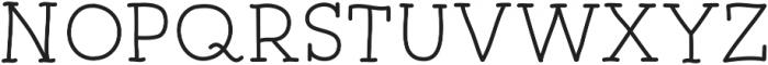 Alloway ttf (400) Font UPPERCASE