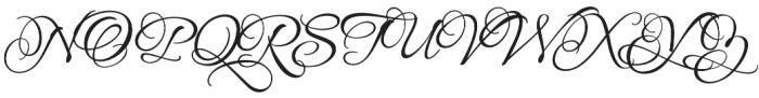 AlluraFormal otf (400) Font UPPERCASE