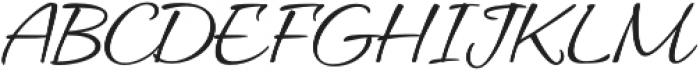AlluraRegular otf (400) Font UPPERCASE