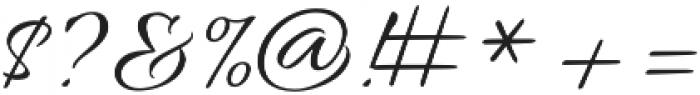 AlluraScript otf (400) Font OTHER CHARS