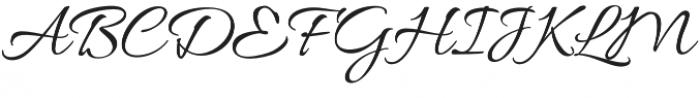 AlluraScript otf (400) Font UPPERCASE